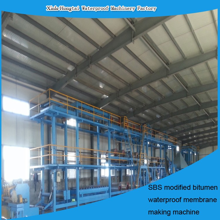 Bitumen Roll ofwaterproof membrane roofing felt Production Line --- Automatic & Installation overseas