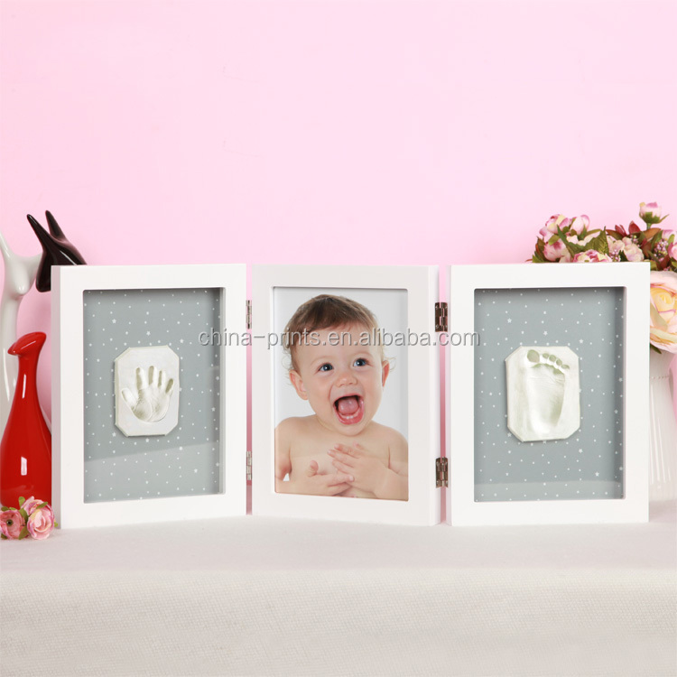 Baby Frame Footprint Photo Frame New Baby Hand Print Cast Set Kit ...