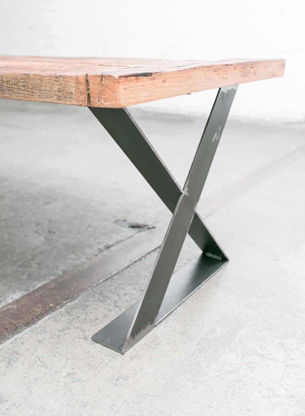 16 zoll flachstahl zx metall holz tischbein eisen tisch basis gro handel tischf e m belbein. Black Bedroom Furniture Sets. Home Design Ideas
