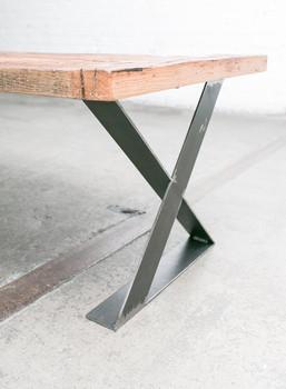 16 Inch Flat Steel Zx Metal Wood Table Leg Iron Table Base Wholesale