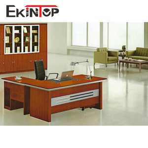 Modern antique luxury wood high gloss white manager office desk