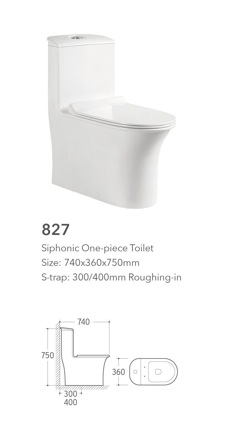 siphonic one piece girl toilet wc from chaozhou ceramic factory