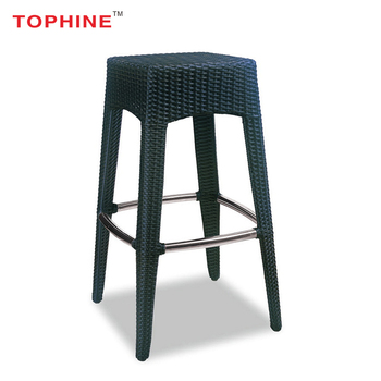 online store 6748b a6d66 Commercial Contract Tophine Furniture Modern Black Aluminium Frame Rattan  Kitchen Counter Bar Stools - Buy Cheap Kitchen Bar Stools,Rattan Bar ...