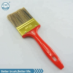 Plated Red Handle Sharpening wire Paint Brush