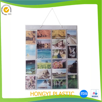 vinyl wall pictures Hanging Picture Gallery Pockets/ pvc clear pockets