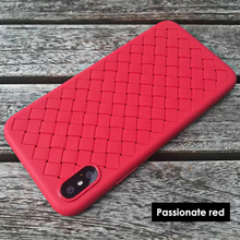 Ultra thin TPU free sample weave texture new phone case for iphoneX