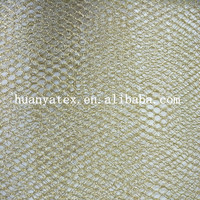 100% Polyester Silver/Gold Metallic Mesh Fabric