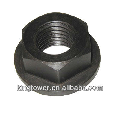 High strength carbon steel hex nuts with black zinc plated