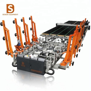 DISAI series best quality used automatic jumbo car glass cutting saw table machine