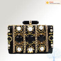 precious stone box clutch bag for women, party evening bag in wholesale