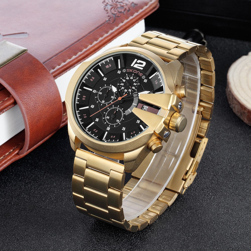 automatic brand clock golden luxury watch top skeleton men watches mens homme montre bezel design sport