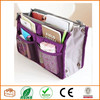 2015 Chiqun Dongguan Purple Handbag Pouch Bag in Bag Organiser Insert Organizer Tidy Travel Cosmetic Pocket Makeup Bag