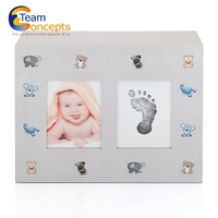 High end white baby cardboard keepsake box wholesale