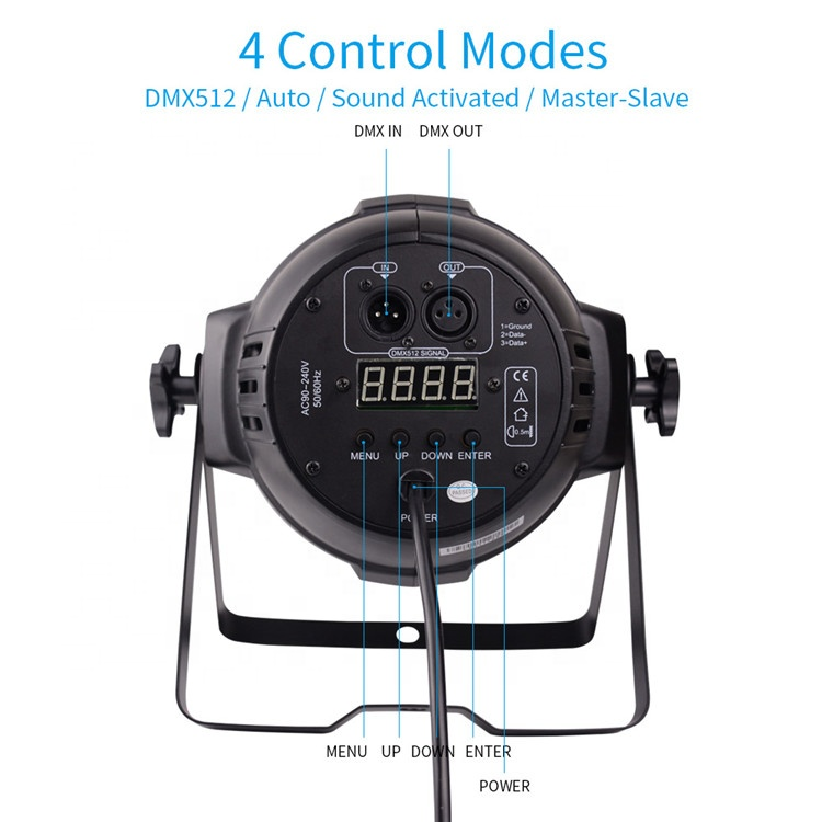 BETOPPER Portable Stage Light LP009 LED Par Light DMX 512 Controlled DJ Bar Display