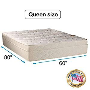"""Dream Solutions USA Beverly Hills Firm Foam Encased Eurotop (PillowTop) Mattress Only (Queen - 60""""x80""""x13"""") - Sleep System with Enhance Support, Fully Assembled, Orthopedic"""