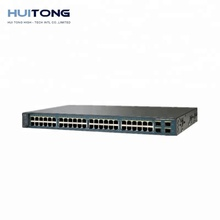 Baru Asli 3560V2 Seri <span class=keywords><strong>48</strong></span> <span class=keywords><strong>Port</strong></span> Network <span class=keywords><strong>Switch</strong></span> WS-C3560V2-48TS-S