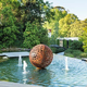 Large Garden Ornament Corten Steel Hollow Metal Sphere