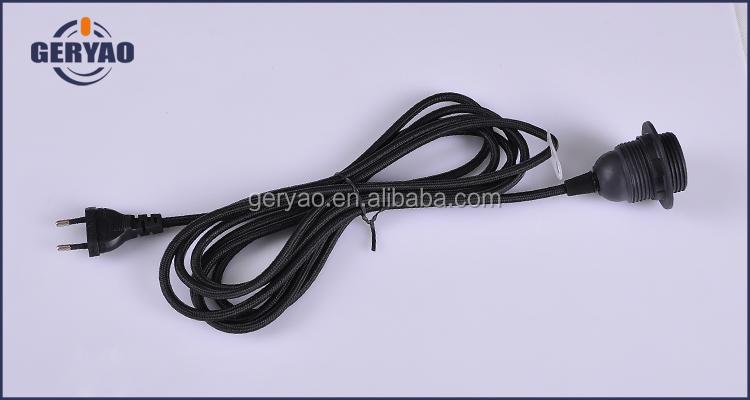 Geliefde Kleurrijke Stof Gevlochten Elektrische Kabel Snoer Met Stekker ZP84