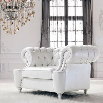 Jr307 Contemporáneo Moderno Color Blanco Genuino Cuero Grueso Retro ...