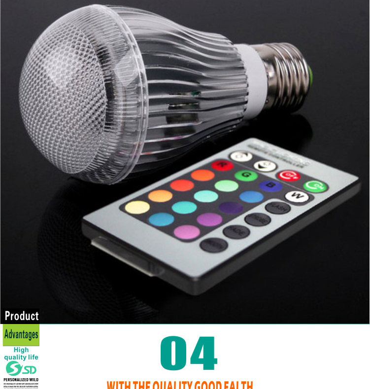 New Design E27 3w Rgb Led Light Bulb,Magic Lighting Remote Control ...