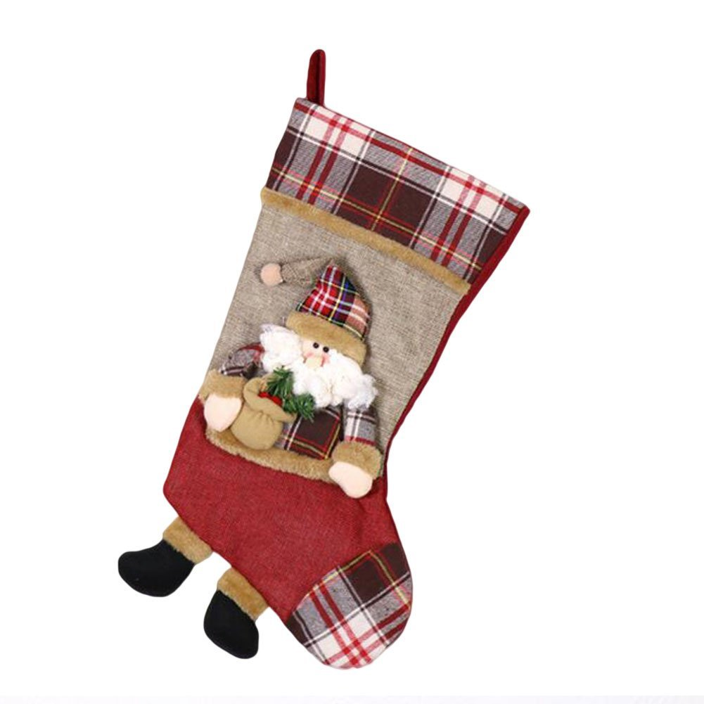 "Deylaying Christmas Santa Stockings Sdlyk Sock Candy Gift Bag Xmas Party Hanging Decoration Ornament 26.5x49x23.5cm/10.4""x19.3""x9.2"""