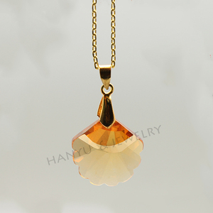 Rough stones buyers fancy shape scallop cz pendant