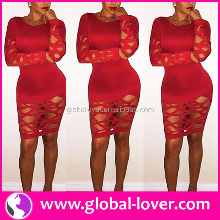 Lady Cut Out Dress Sexy Hollow Out Dress Women Clothing Online Shop