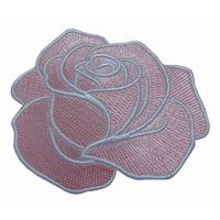 High Density Custom Size Low Price fabric embroidery Patch Flower Manufactory In China