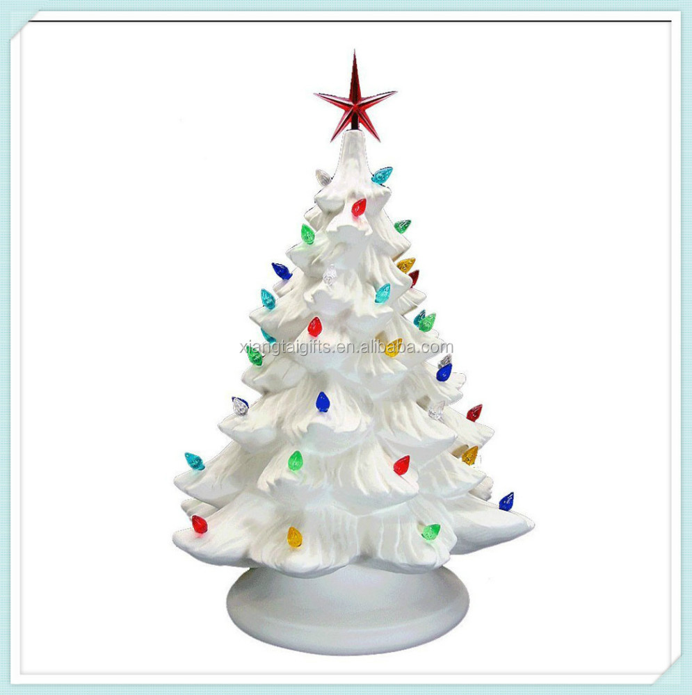 ceramic christmas tree bisque with led light buy ceramic christmas tree bisqueled lightsceramic christmas tree light product on alibabacom