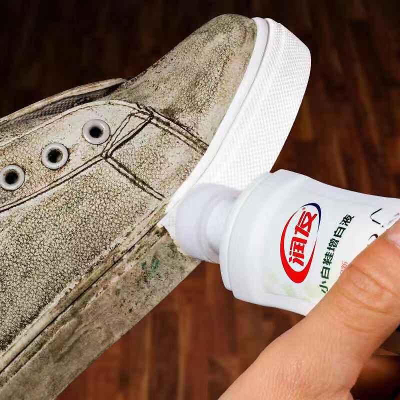 White Canvas White Shoe Polish Shoe