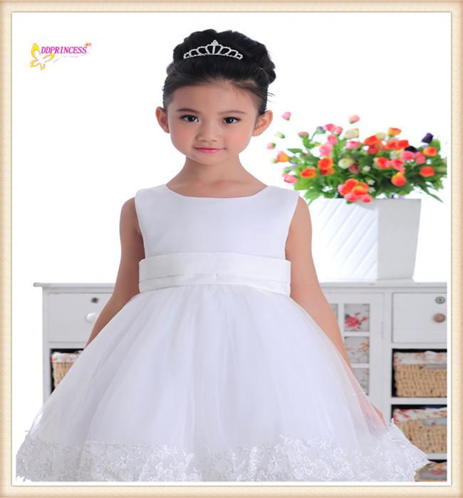 Baby mädchen kleider weiße prinzessin kleid mode kinder mädchen ...