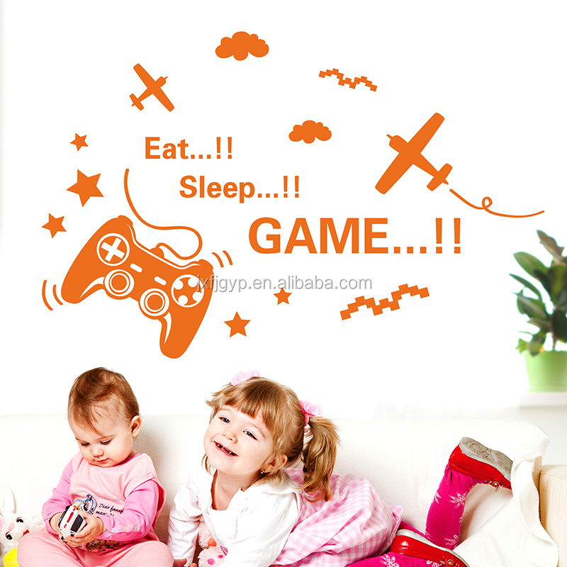 2017 hot wholesale new graphic design removable cartoon game wall decals,nursery wall decals