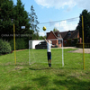 Hot sale folding soccer goal with shooting target