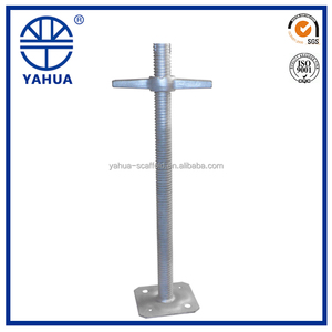 Adjustable screw jack stands hollow jack base scaffolding parts