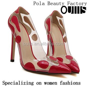7bf39fe4ec94 2016 Newest Ladies Fancy Shoes High Heel Dress Shoes Pj4003 - Buy ...