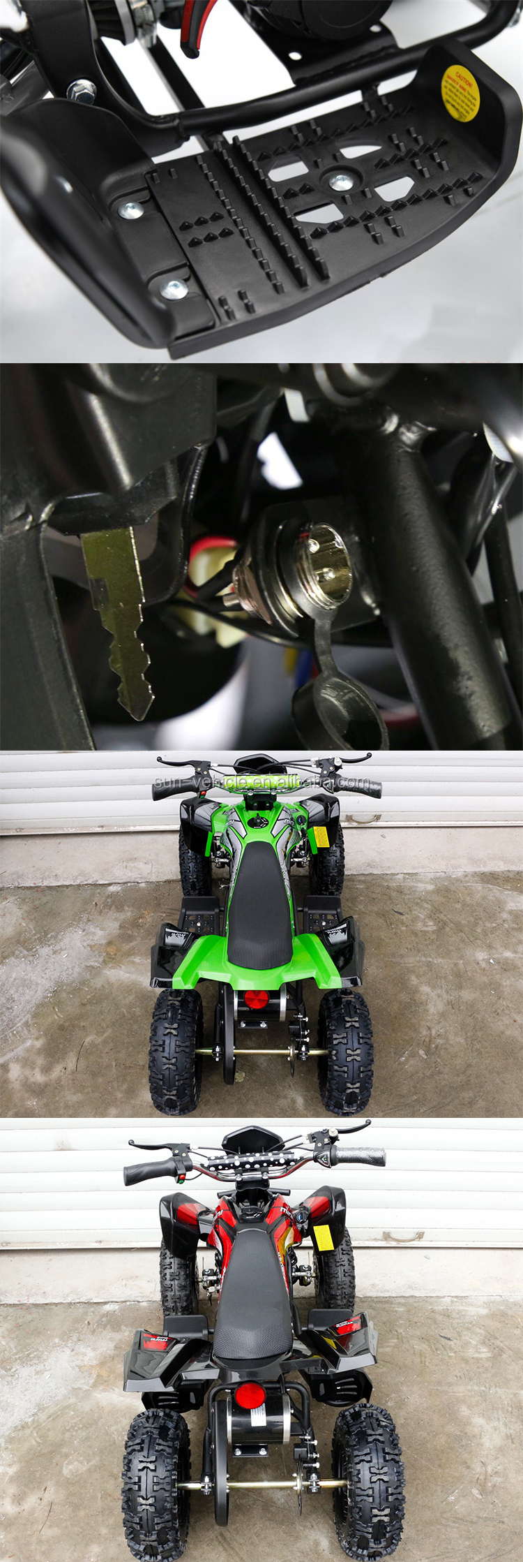 800W 36V mini quad atv for kids with CE approved 4 wheeler ride on bike