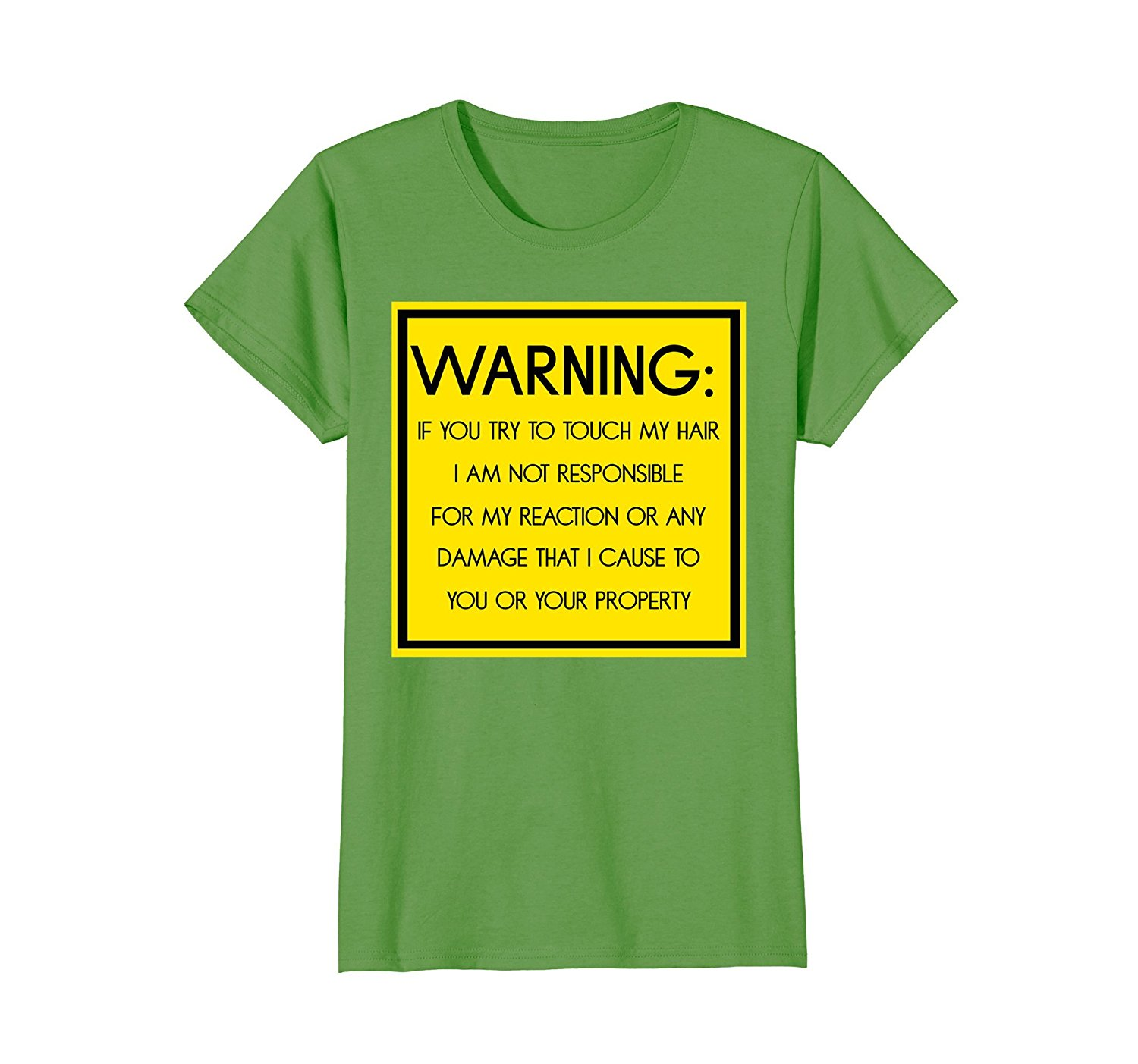 7fa70c578f Get Quotations · Warning Don t Touch My Hair T-shirt for Men