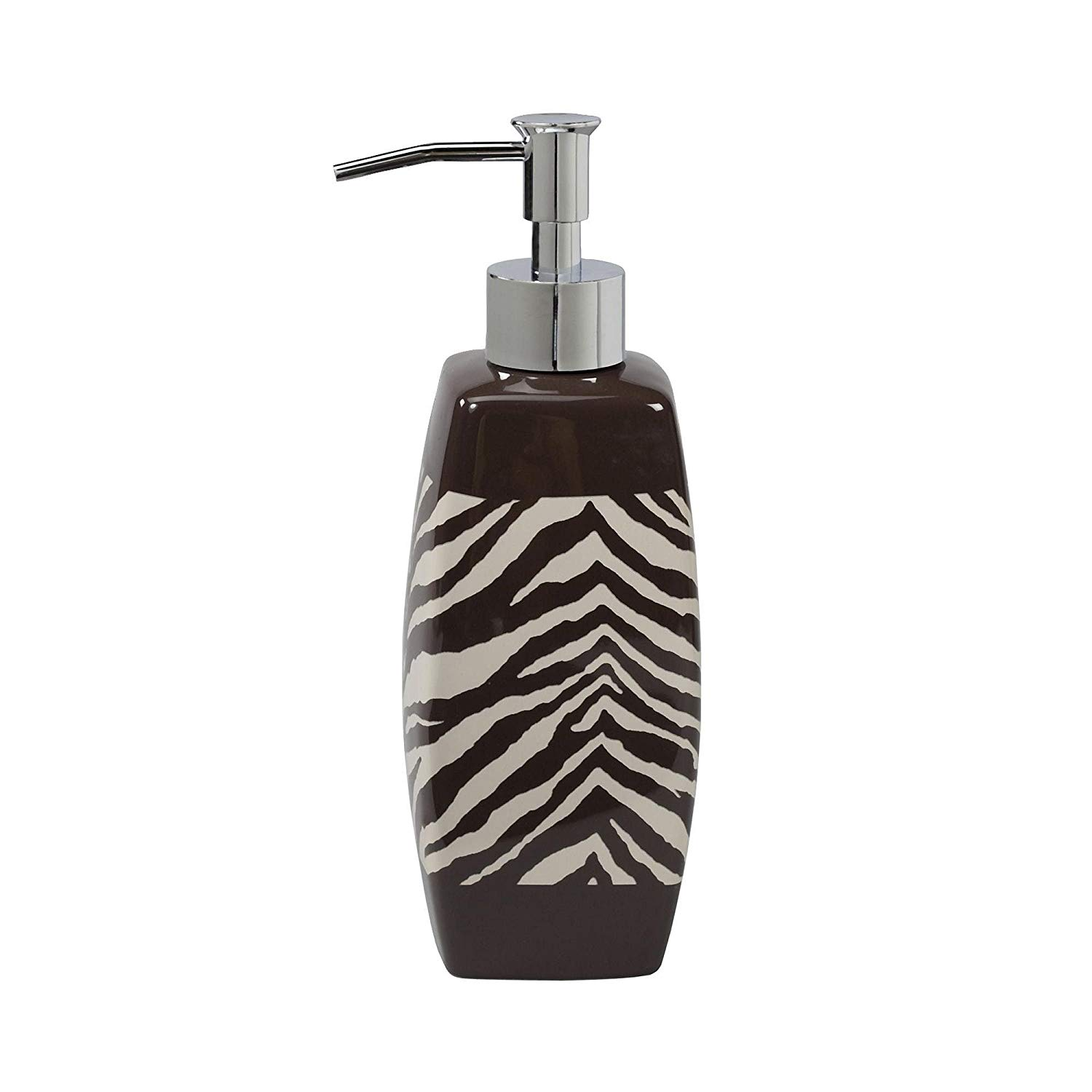 Creative Bath Product Zebra Ceramic Lotion Dispenser - Brown/Tan