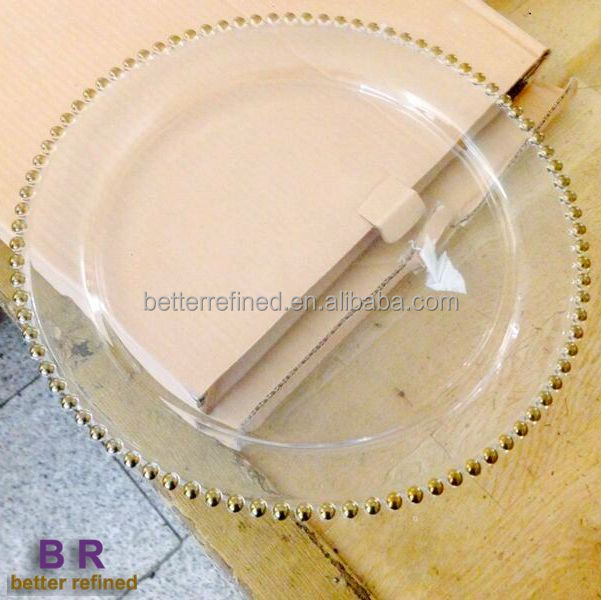 Whole Gold Silver Fancy Gl Wedding Charger Plates For Hotel And Restaurants