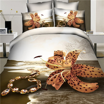 China Supplier Online Shop China 3d Duvet Cover Set Bed Linen 3d Luxury  Bedding Set Used
