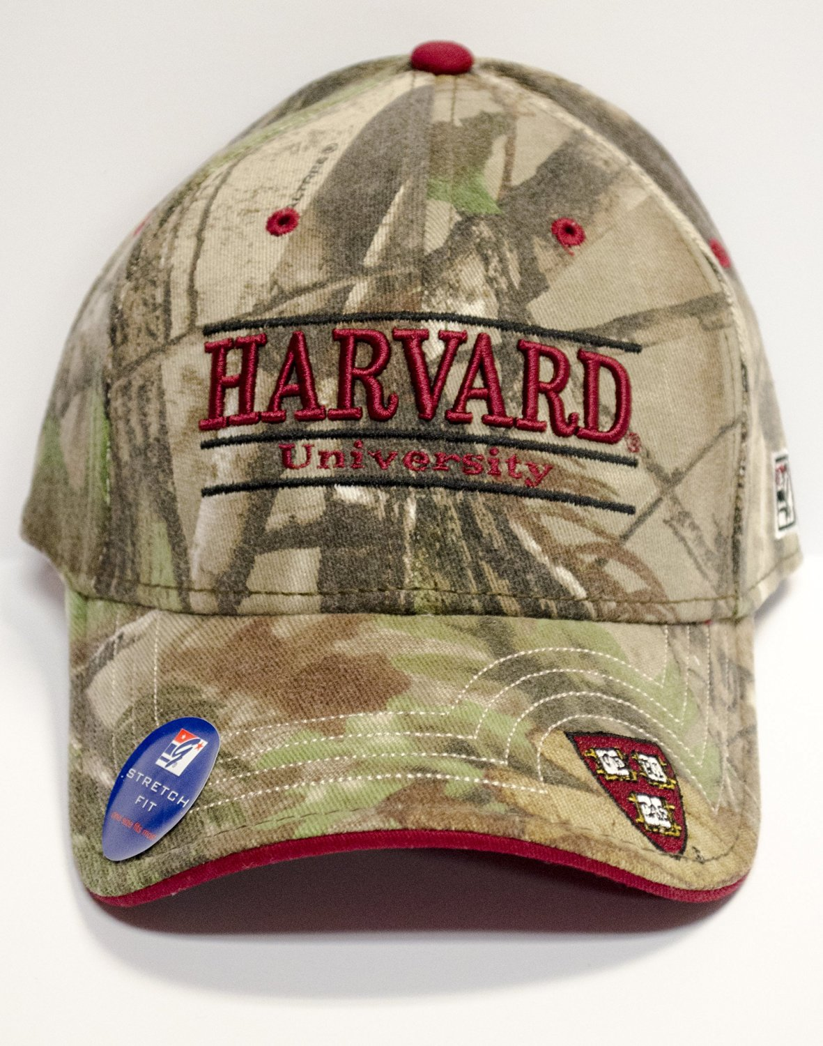 0fadc053bc097 Harvard University Officially Licensed Realtree And Crimson A-Flex  Embroidered Hat Cap