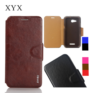 Customized logo smart mobile phone accessories flip cover case for moto E 4G. leather case cover for moto e 4G