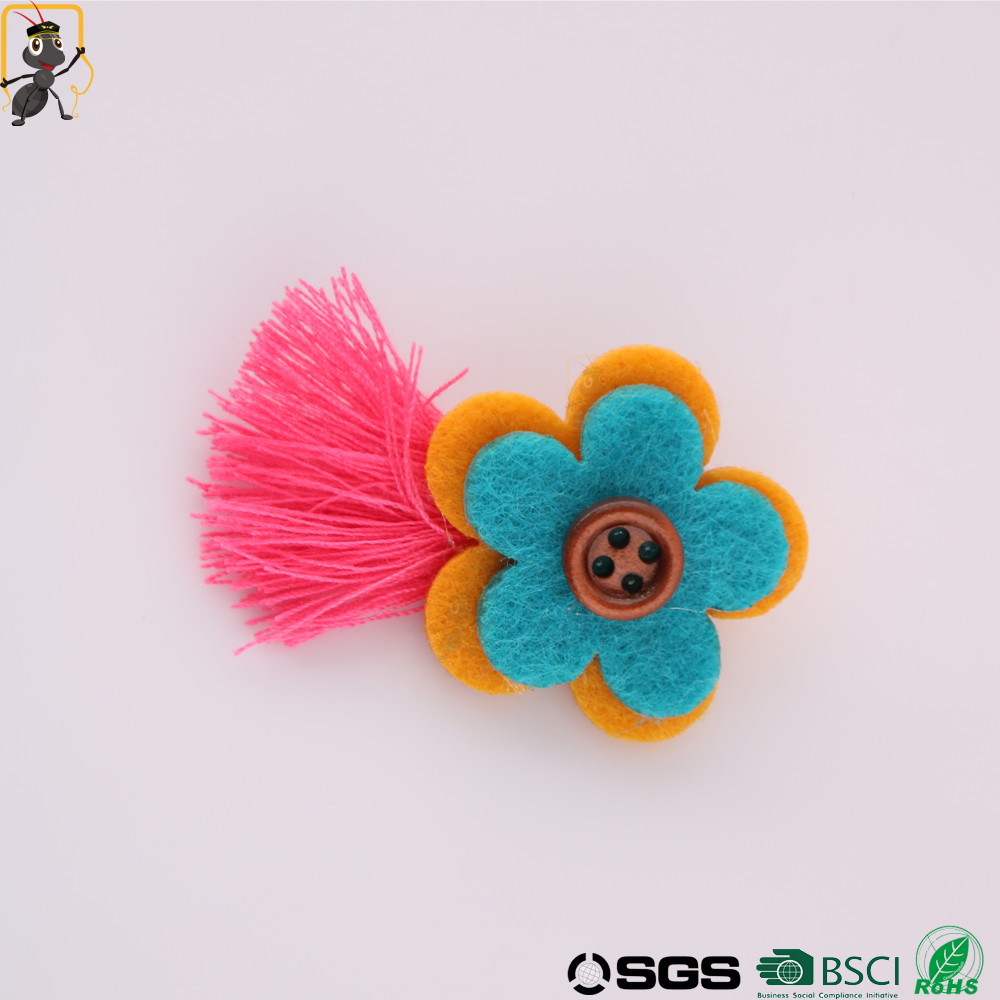 haoxie brand wholesale sew-on eco-friendly handmade custom flower patches embroidery patch for clothing