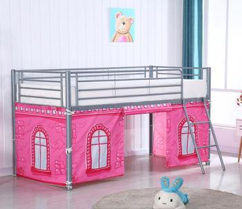 Kids Metal Bunk Bed With Lovely Curtain,Iron Bunk Bed For Child Bedroom  Furniture - Buy Metal Frame Bunk Beds,Kids Bunk Beds With Stairs,Colorful  Bunk ...