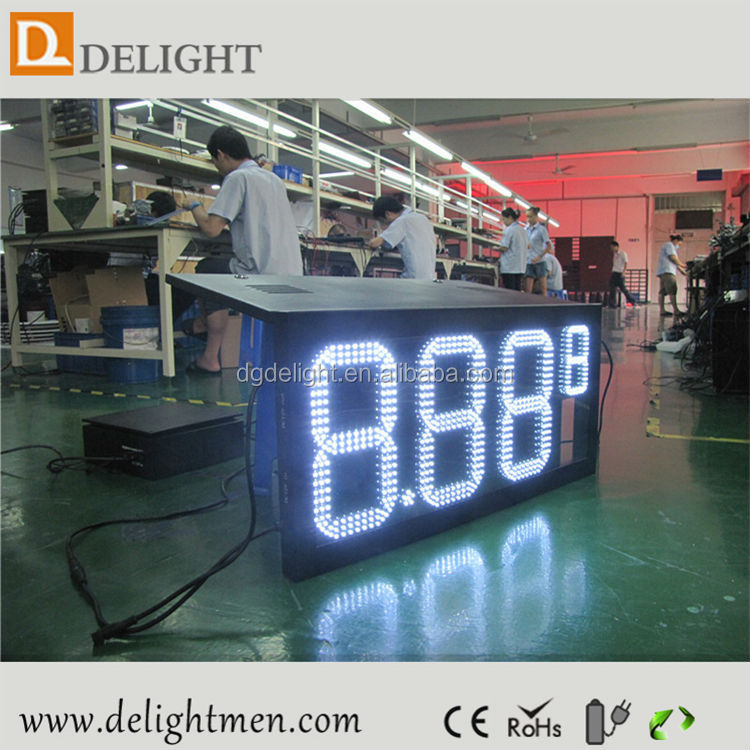 temperature and humidity led display/ led gas station price signs/ gas price sign for car