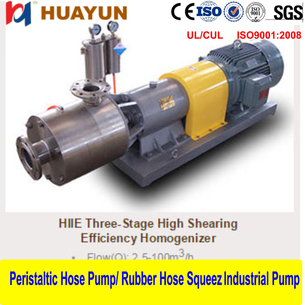 3 stage Inline high shear emulsifier/mixer/homogenizer/pump for cutting liquid icecream inline homogenizer ,homogenizer pump