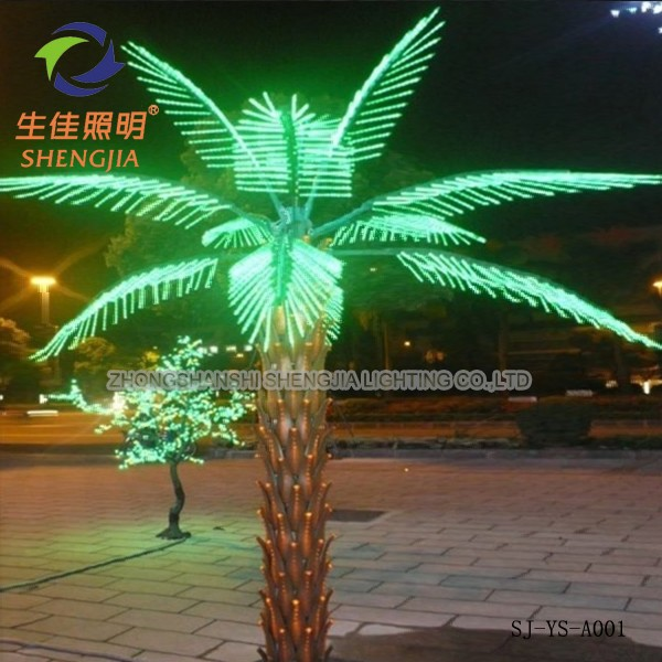 Hight Quality Artificial Outdoor Coconut Tree Lighted Palm Christmas Decoration