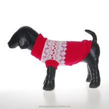 Pet Snowflake Knitted Turtleneck Sweater for Small Dogs & Cats Knitwear Cold Weather Outfit