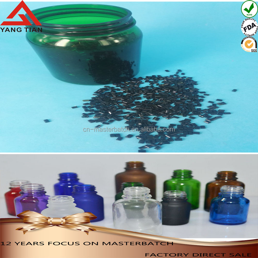 PET transparent green masterbatch pellets for moulding plastic/ plastic pipe