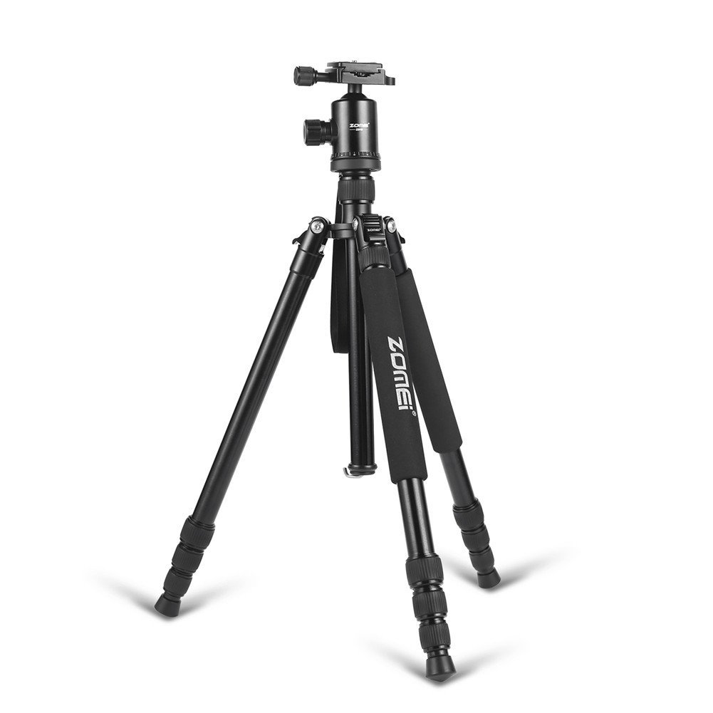 "ZoMei 65"" Professional Compact Magnesium Aluminium Sturdy Camera Tripod Monopod with Quick Release Plate Tripod Mount Ball Head for Canon Nikon Sony(Black)"